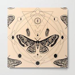 Moth. Sacred geometry Metal Print