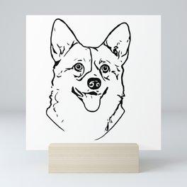 Corgi Line Art Mini Art Print