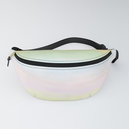 pastel rainbow gradient loved by unicorns Fanny Pack