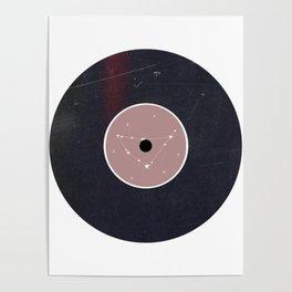 Vinyl Record Zodiac Sign Capricorn Poster