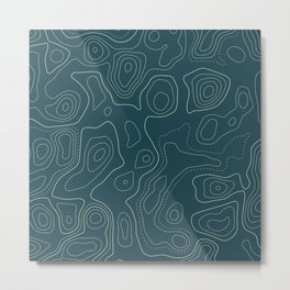 Topographic Map 03A Metal Print