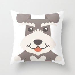 Huge Schnauzer Throw Pillow