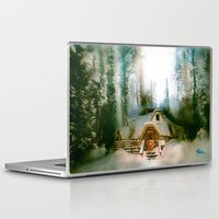 "hobbit Laptop & iPad Skins featuring ""HOBBIT HOUSE"" by FOXART  - JAY PATRICK FOX"