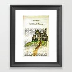 The Riddle House Framed Art Print