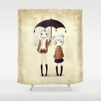sisters Shower Curtains featuring Sisters by Freeminds