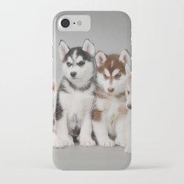 Husky dog puppies iPhone Case