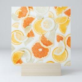 citrus fresh orange twist Mini Art Print
