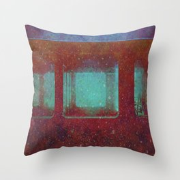 Into the City, Structure Windows Grunge Throw Pillow