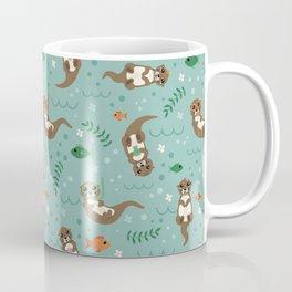 Kawaii Otters Playing Underwater Coffee Mug