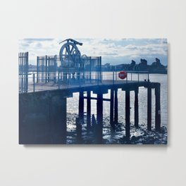 Enderby's Wharf Cable Gear Metal Print
