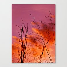 Sundown Silhouettes Canvas Print