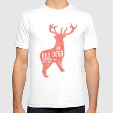 The Red Deer Mens Fitted Tee White MEDIUM