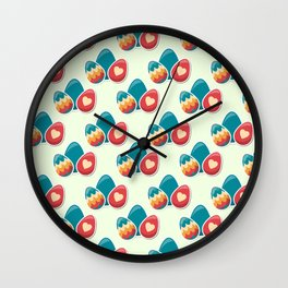 Cute easter pattern Wall Clock
