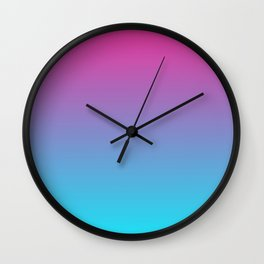 Cotton Candy Gradient Wall Clock