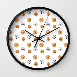 Ball sport pattern Wall Clock
