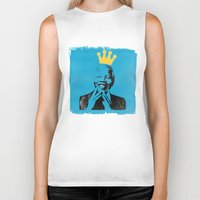 mandela Biker Tanks featuring King Mandela by César Ovalle
