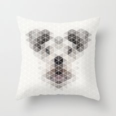 Happy pup Throw Pillow
