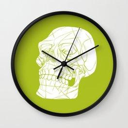Skull Looking Left Wall Clock