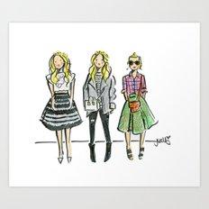 Fashion Illo Trio Art Print