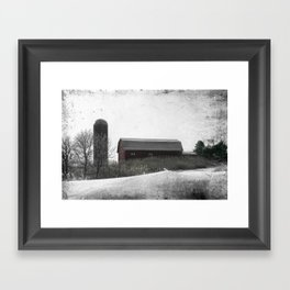 Winter on the Farm Framed Art Print