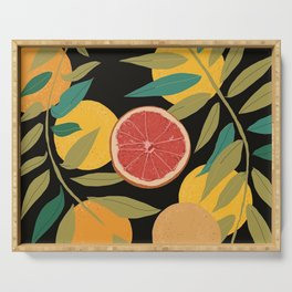 Black Grapefruit Serving Tray