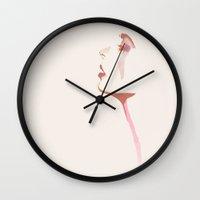 watercolour Wall Clocks featuring WATERCOLOUR by Emily Merchant
