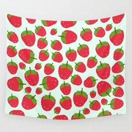 Raspberry Fruit Summer Pattern Design Wall Tapestry