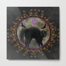 Spooky Mandala Metal Print