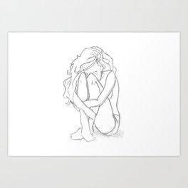 Alone I break Art Print