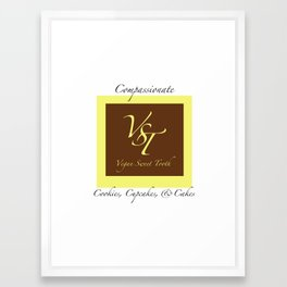 VST Compassionate Cookies, Cupcakes, & Cakes  Framed Art Print