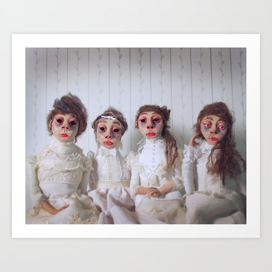 The Mesmerist's Daughters Art Print