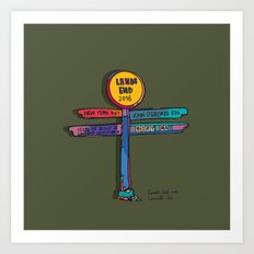 land's end sign Art Print