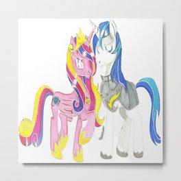 little pony heart Metal Print