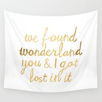 wonderland Wall Tapestries featuring Wonderland by Tangerine-Tane
