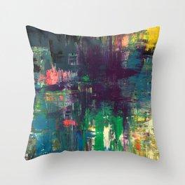 Rainbow Sunshine - Art Poster Print by Robert Erod Paintings Throw Pillow