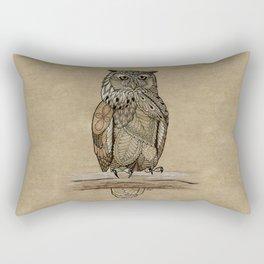 Paper Bag Owl Rectangular Pillow