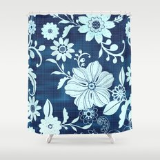 Flower time Shower Curtain