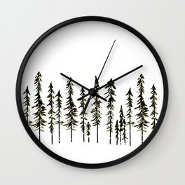 Northwoods Winter Forest Wall Clock