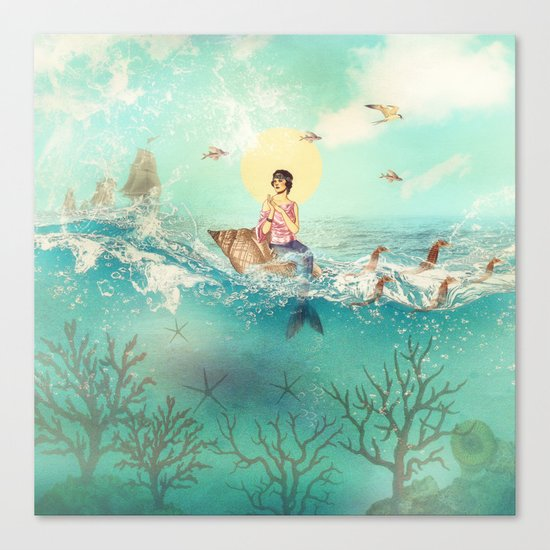 The Queen Mermaid Canvas Print