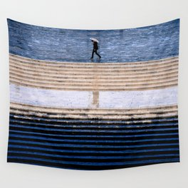 Blue and rain Wall Tapestry