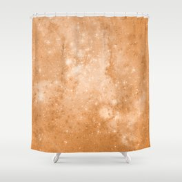 Vintage Space Paper Shower Curtain
