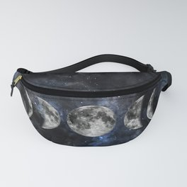 Moon Phases Luna Watercolor  2 Fanny Pack