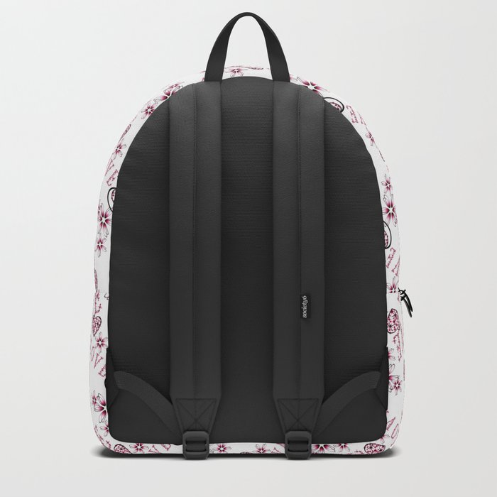 Openwork pattern with hearts. Backpack