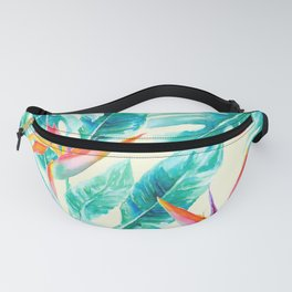 Tropical Paradise Pale Yellow Fanny Pack