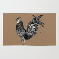chicken Area & Throw Rugs featuring Chicken  by Aubree Eisenwinter