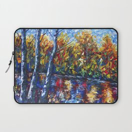 Dreaming Forest with Palette Knife Laptop Sleeve