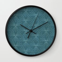 SUN TILE PEACOCK Wall Clock
