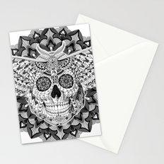 Skull Moth Stationery Cards