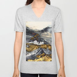 Gold Mountain Unisex V-Neck