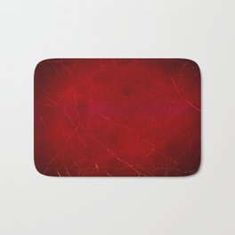 Blood Red Abstract Texture with Scratches Bath Mat